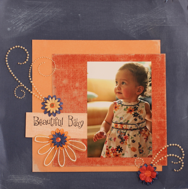 Beautiful Baby A Simple Scrapbook Page Layout Idea